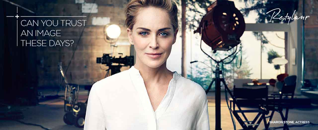 SHARON STONE PARTNERS WITH GALDERMA
